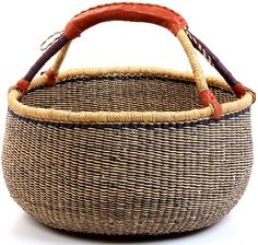 African market basket from Oxfam (Fits a surprising amount of things inside and very durable with heavy items)