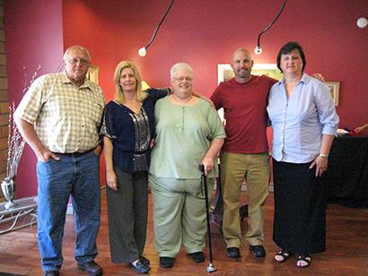 From left: Doyle Flory, Kristen Belcredi, Julie Baker, Brian Harrington, Cheryl Apple