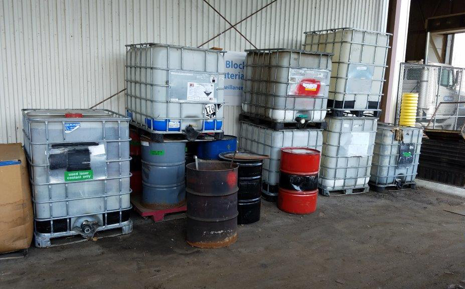 Typical chemical storage area