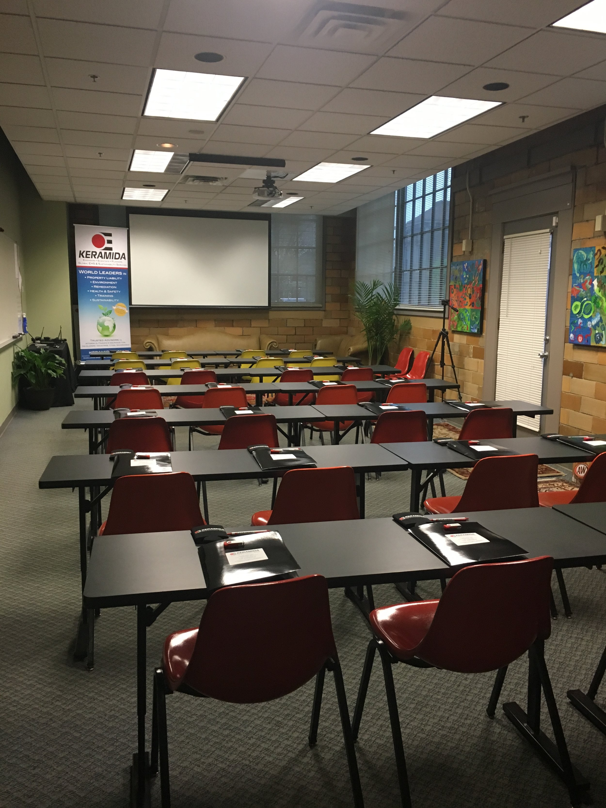 KERAMIDA's front conference room ready to host our annual EHS Conference.