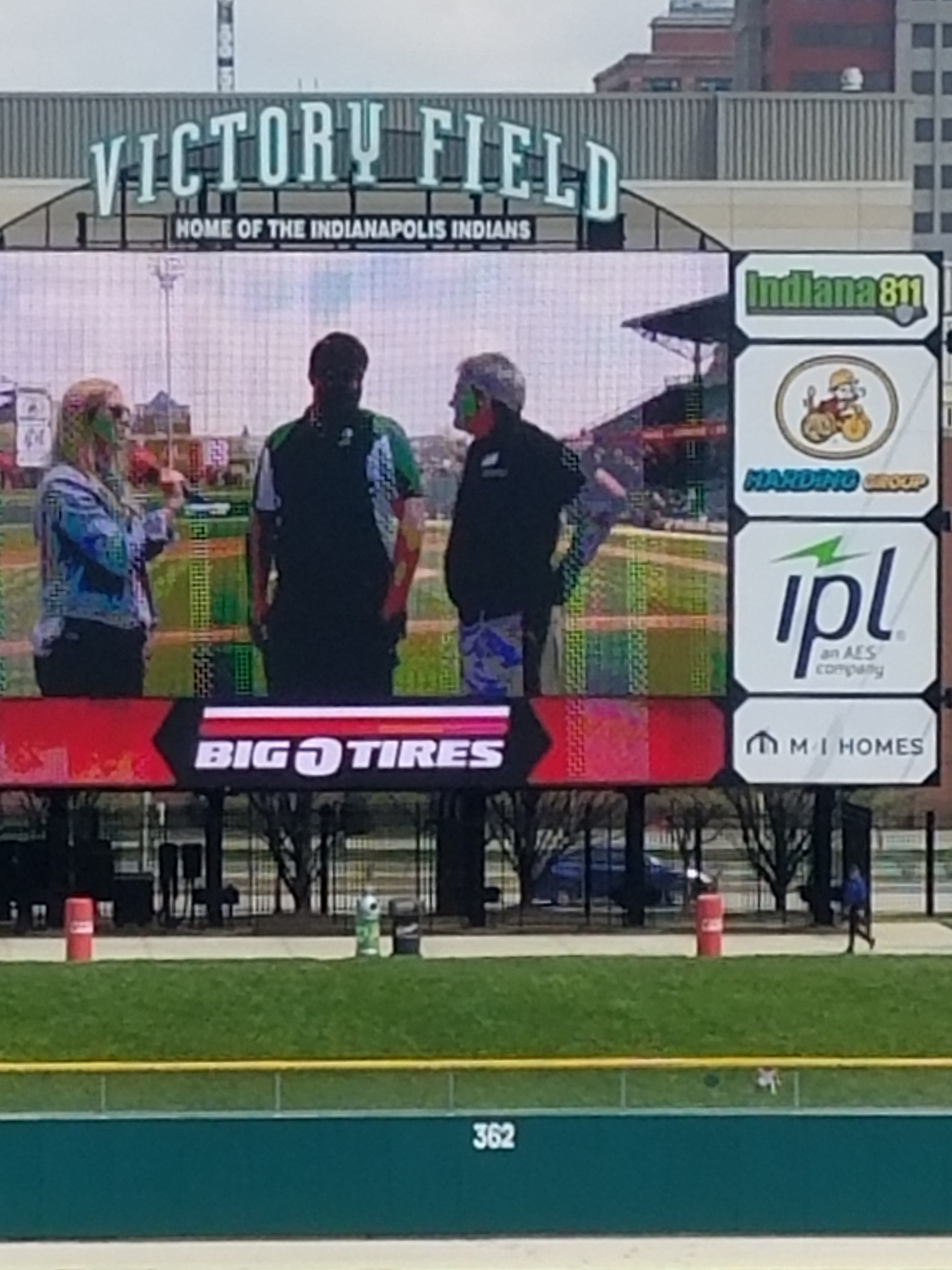 Zach Livengood and John Wellspring participating in the Big O Tires Game