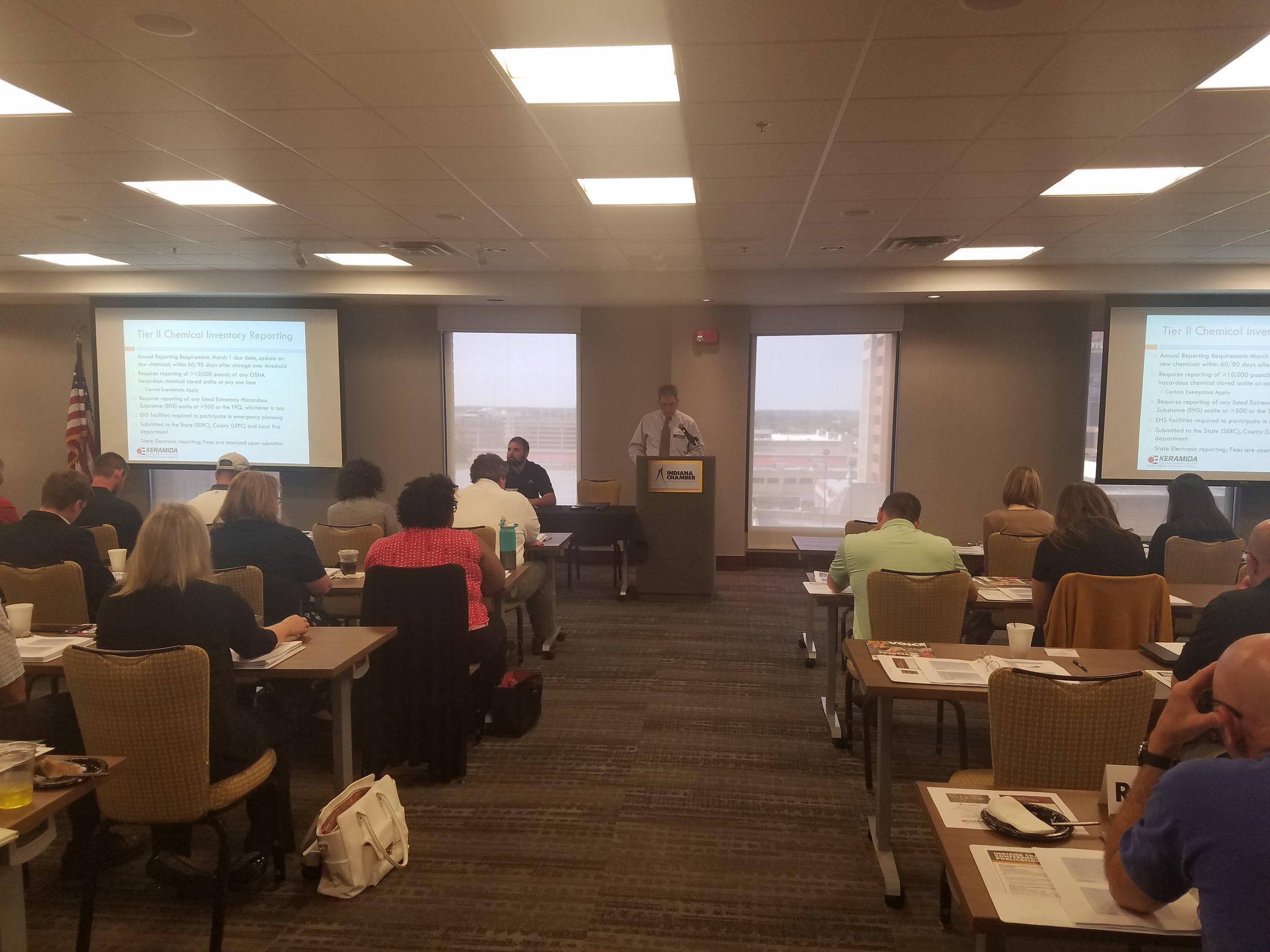 "John Wellspring, Senior Project Manager, EHS Compliance Services, presenting ""Environmental Management Fundamentals"""