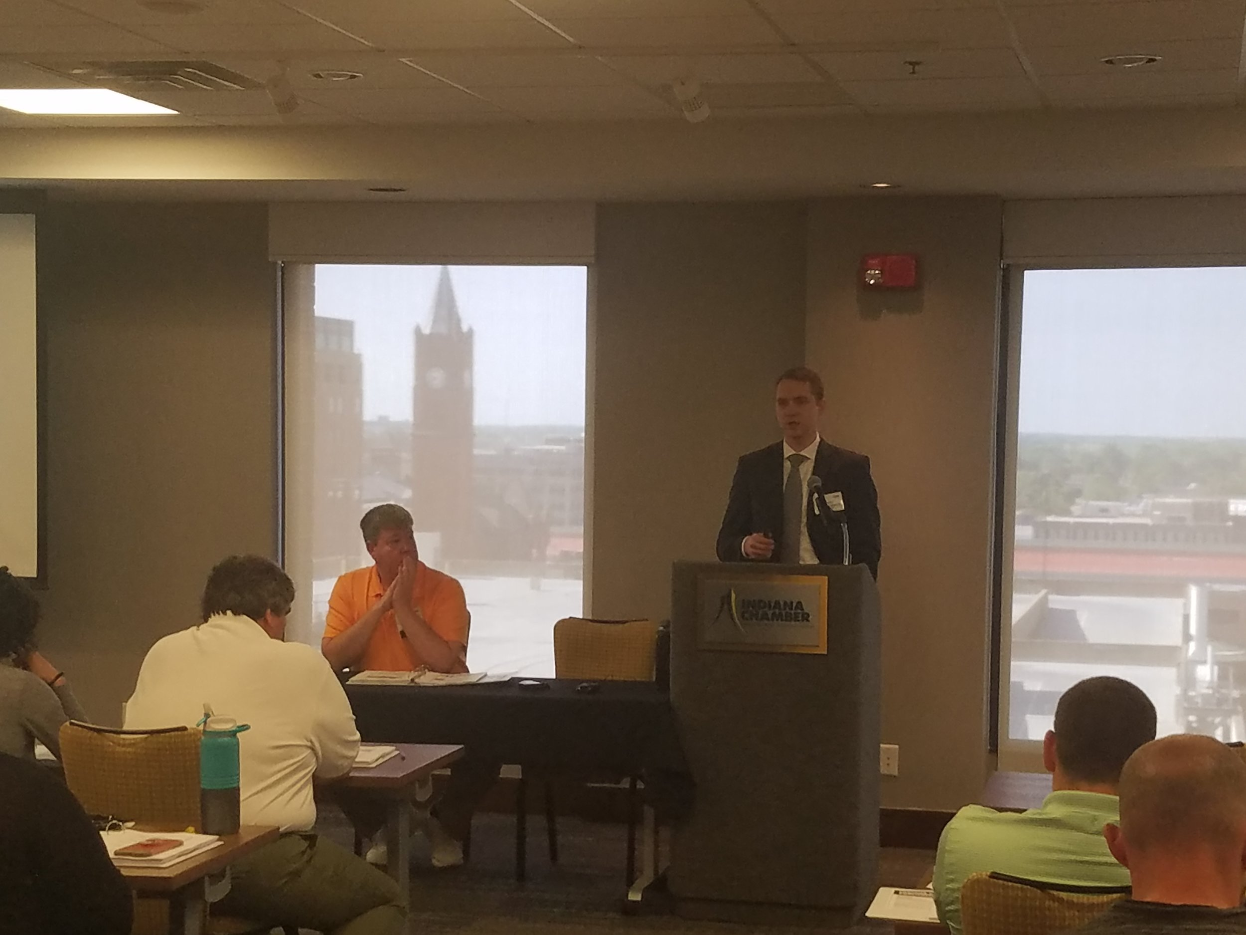"""Wesley Fleming, Senior Project Engineer, EHS Compliance Services, presenting """"Air Permitting 101"""""""