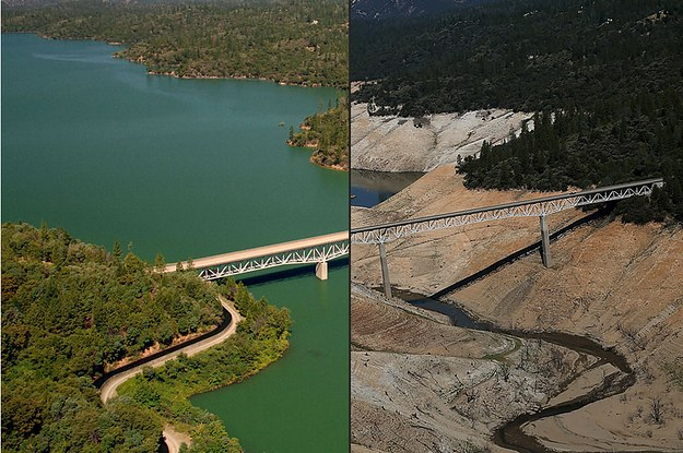 Lake Oroville, California - 2011 vs. 2014