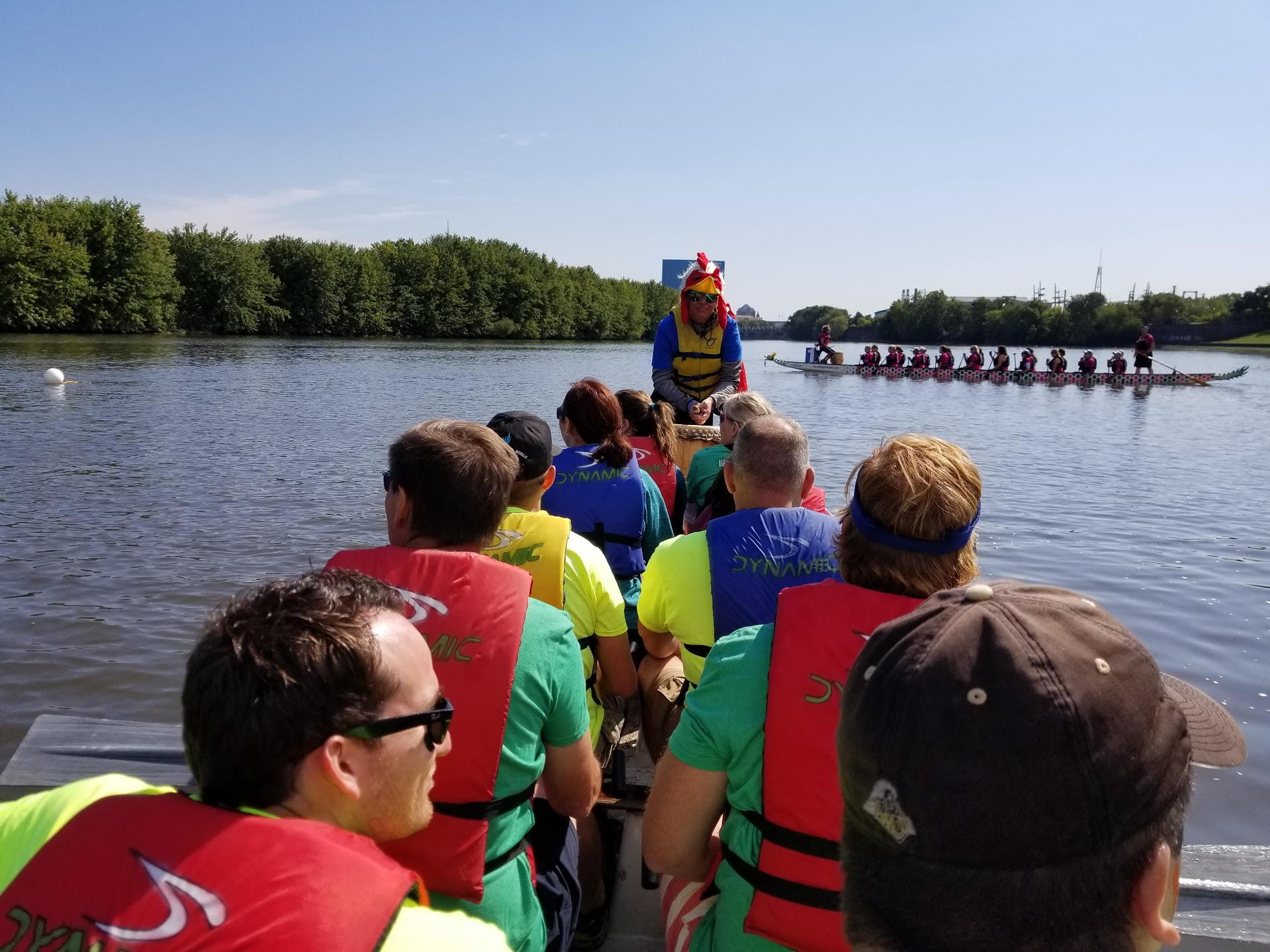 White River Dragon Boat Race - KERAMIDA / Plews, Shadley, Racher, and Braun / City of Carmel Team