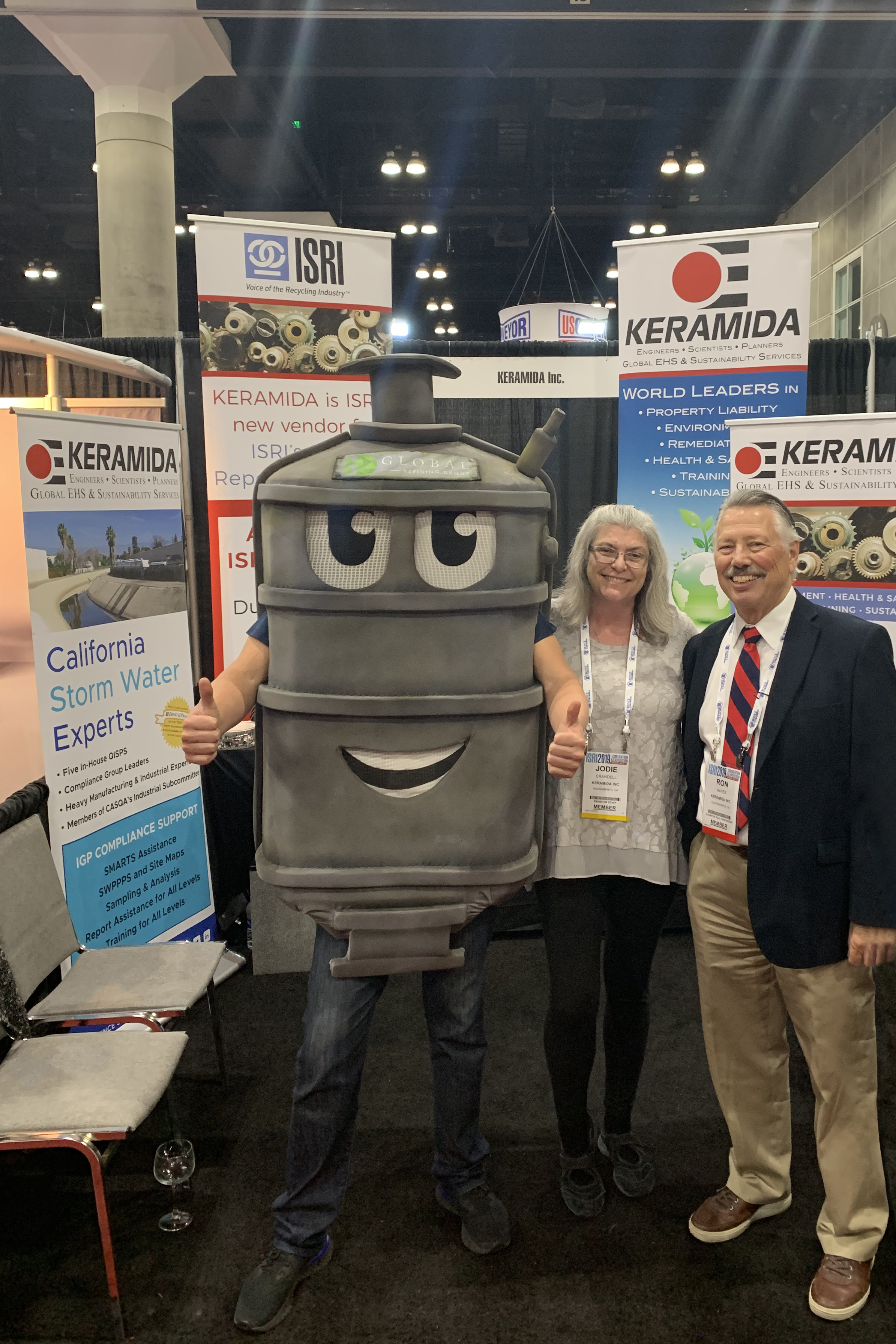 KERAMIDA's Jodie Crandell and Ron Hayes - with a Catalytic Converter!
