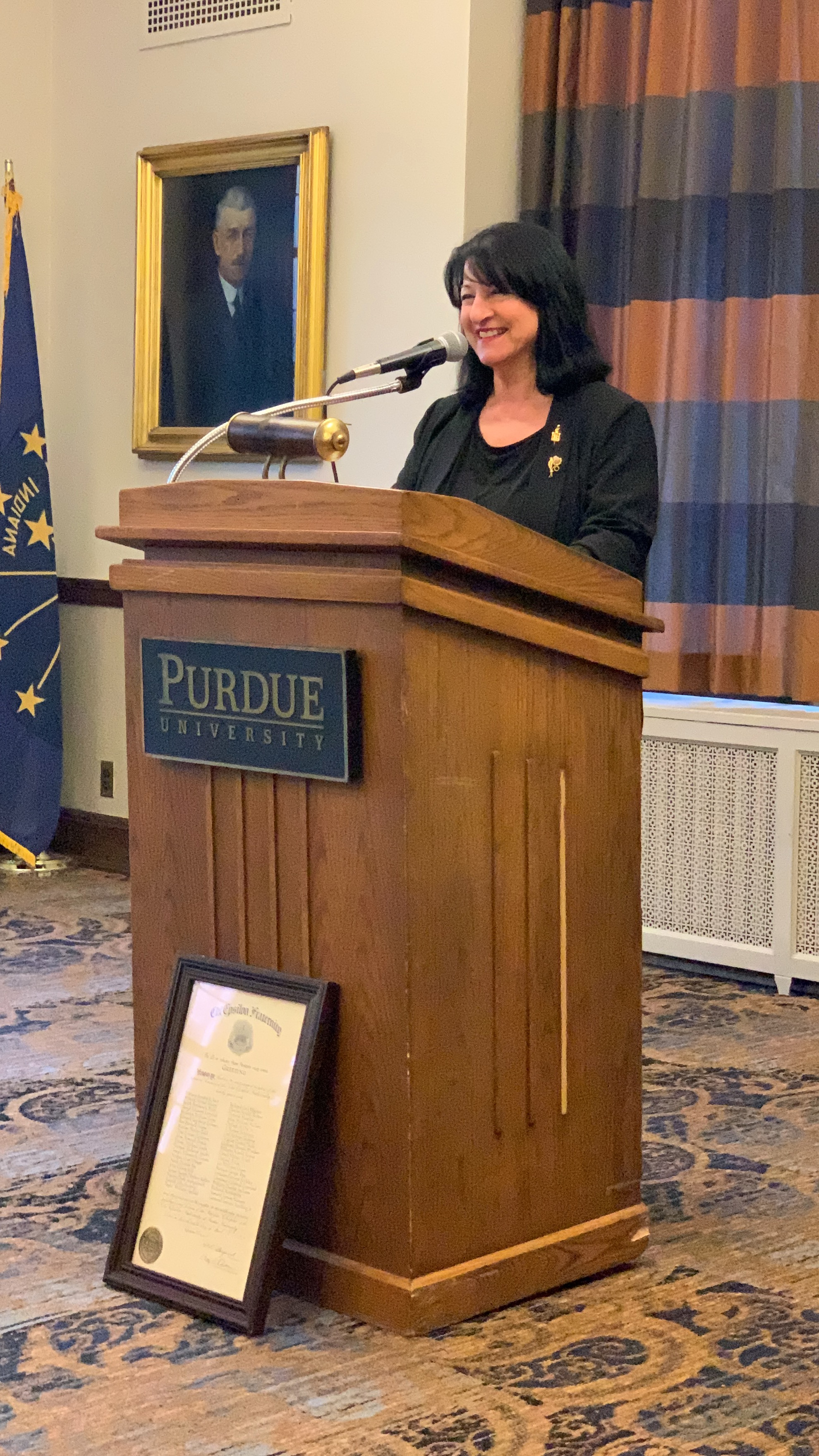 Vicky Keramida Inducted as Chapter Honor Member of Chi Epsilon