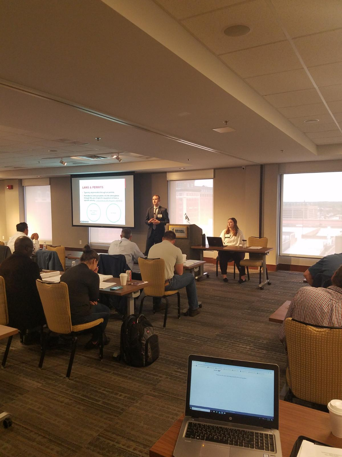 "KERAMIDA's Wesley Fleming and Genevieve Willman presenting ""Air Permitting 101"""