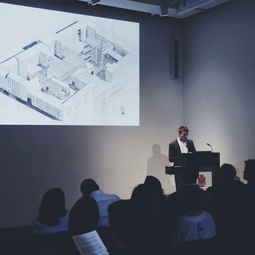 Lecturing on drawing, AIA Center for Architecture, New York City