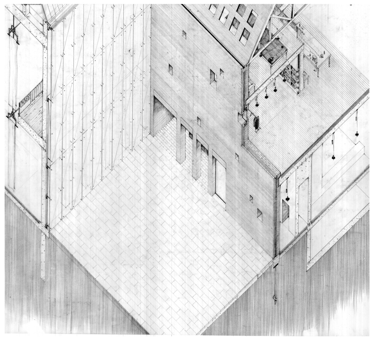 Tekstiler Kvartal, Construction Axonometric
