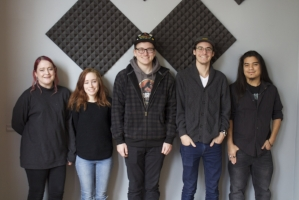 From left to right: Kelsey Kamrowski, Ashley Kalin, Tys Yoder, Matthew McDaniel, and Chris Kehoe