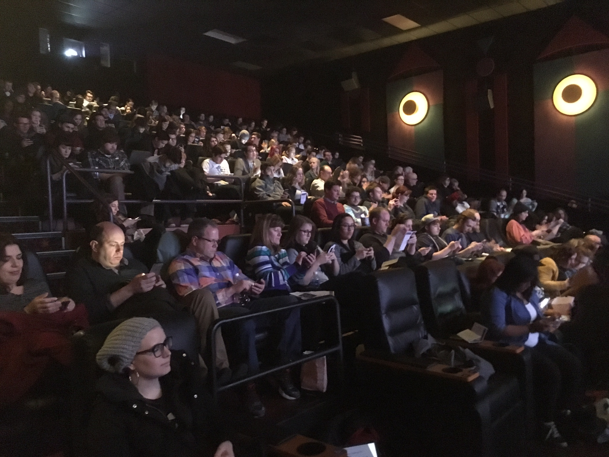 Audience voting during 36-Hour Challenge screening February 3rd @ Celebration Cinema North
