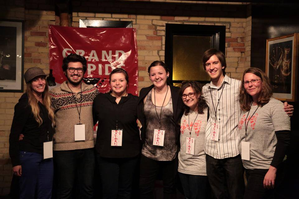 2014 GRFF Intern Crew: Jessica Wagley, Nick DiCarlo, Meg Jewell, Carese Bartlett, Amy Hallochak, and Adam Cutler with GRFF President and mentor Jen Shaneberger.