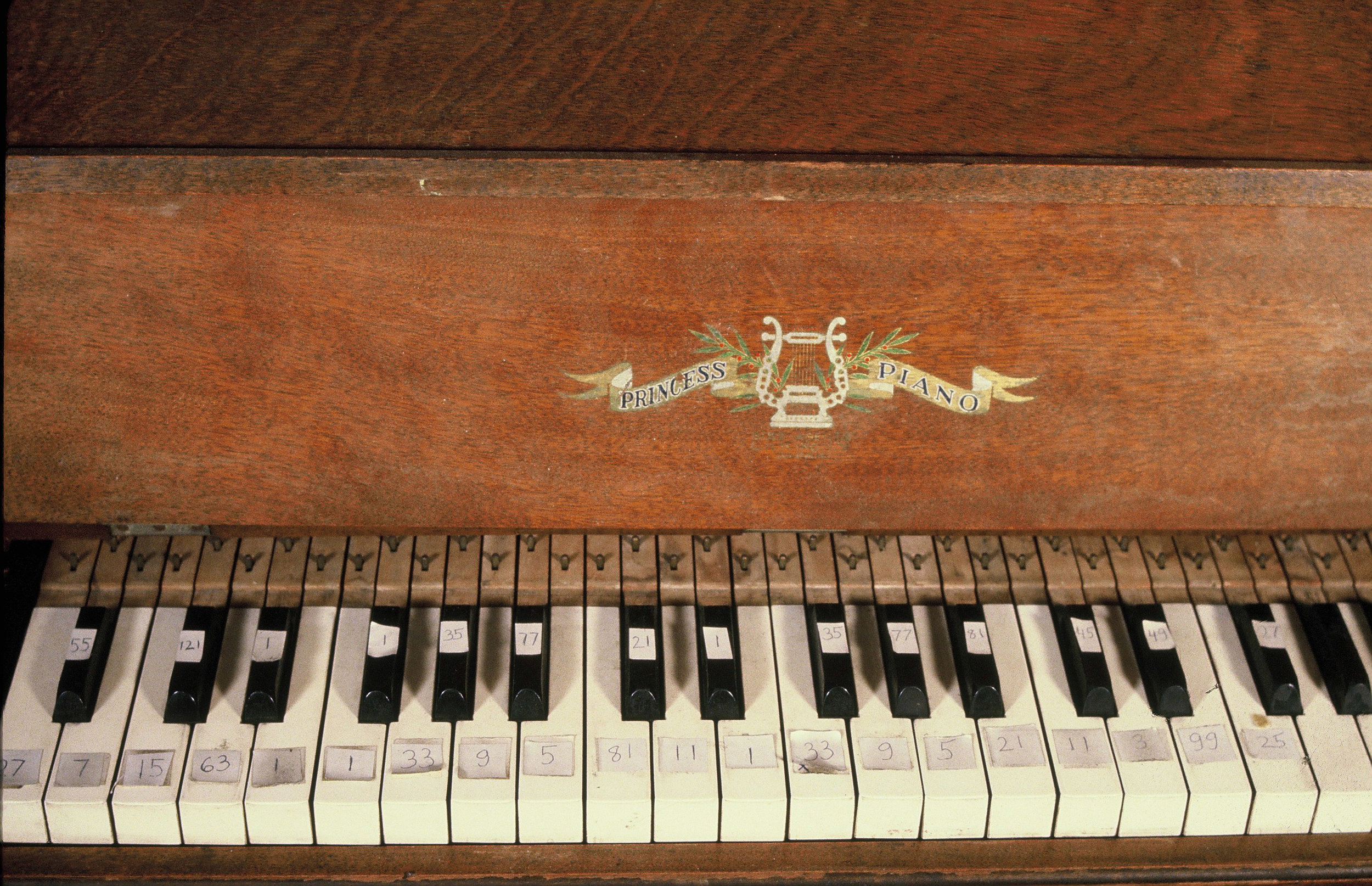 Miniature Pianoforte keyboard, Fulton Street Studio, 1978