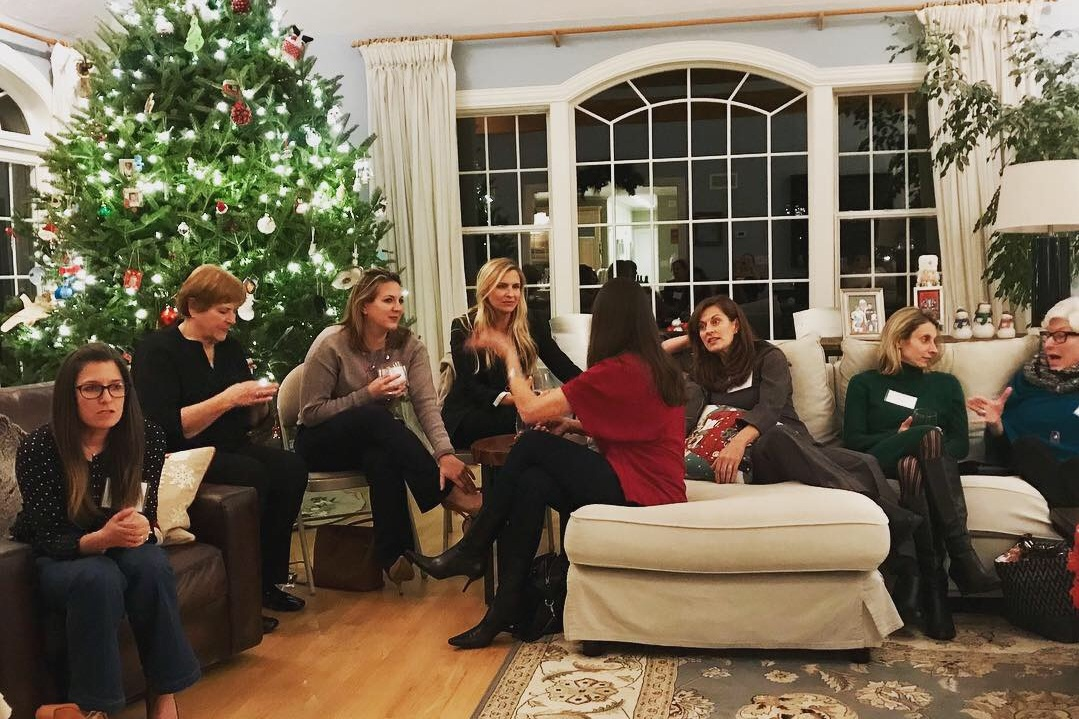 The December  Holiday Gathering and Vignettes on 'Ego'  at the Potter home in Wenham in December