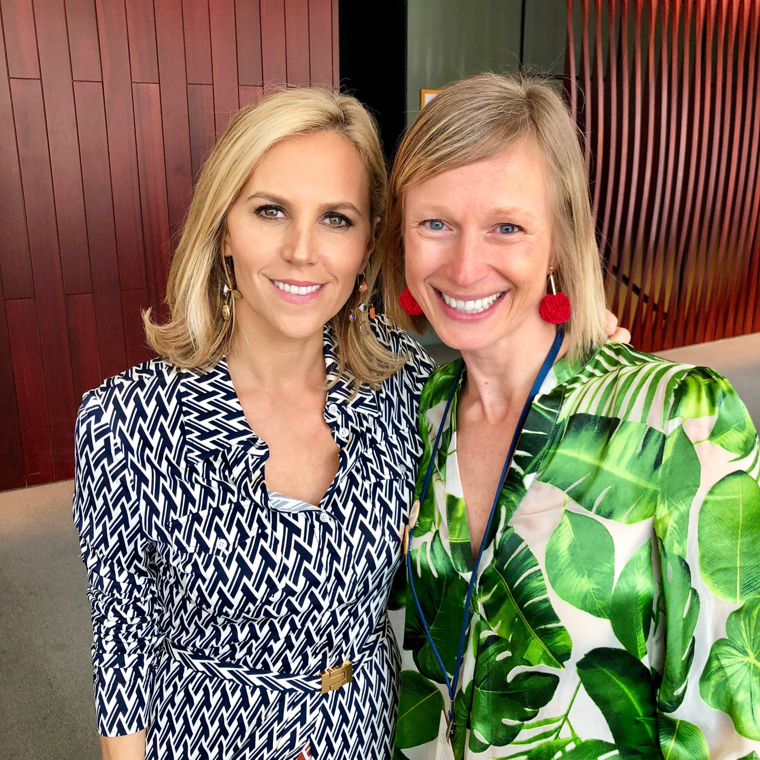 Spark Ambassador Tamara DeOrio with Tory Burch at the 2018 Embrace Ambition Summit in NYC