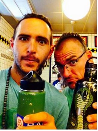 Cozmic Theo & the Synchroknights #WaterBottleSelfie for the #PlasticFreeChallenge