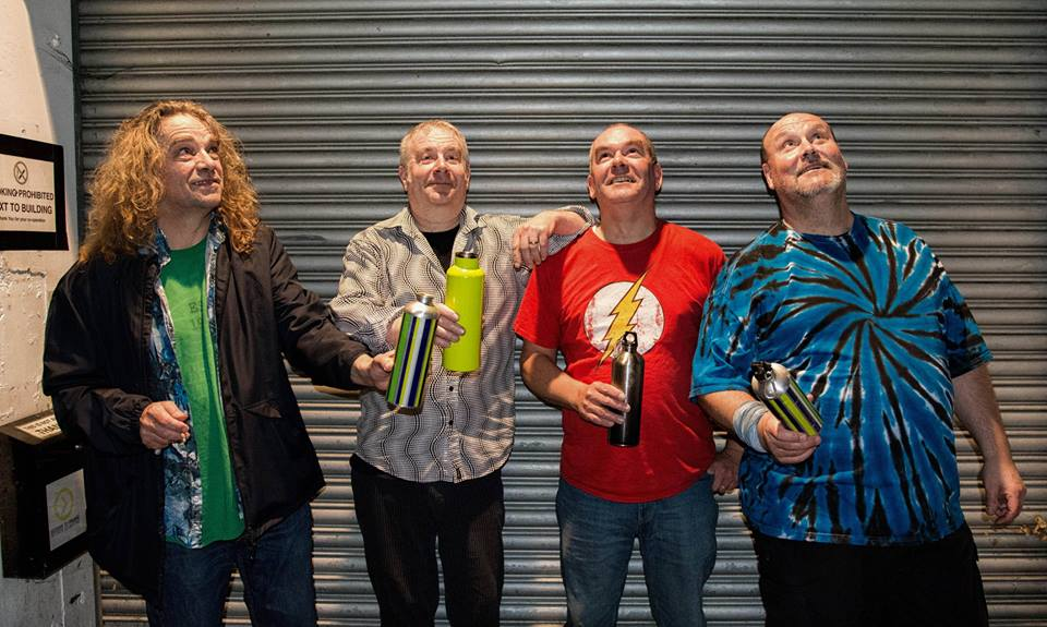 Paradise9 rock band from England #WaterBottleSelfie for the #PlasticFreeChallenge