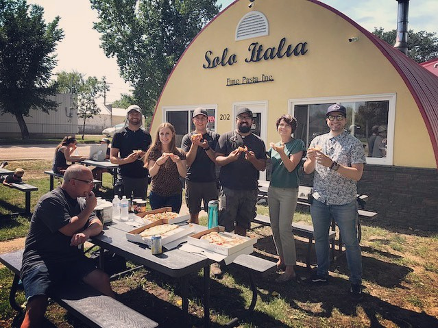 @soloitaliafinepastainc treats us right!! Wonderful times filming with Solo Italia for the Ministry of Trade and Export Development. You can't ask for a better lunch on set!