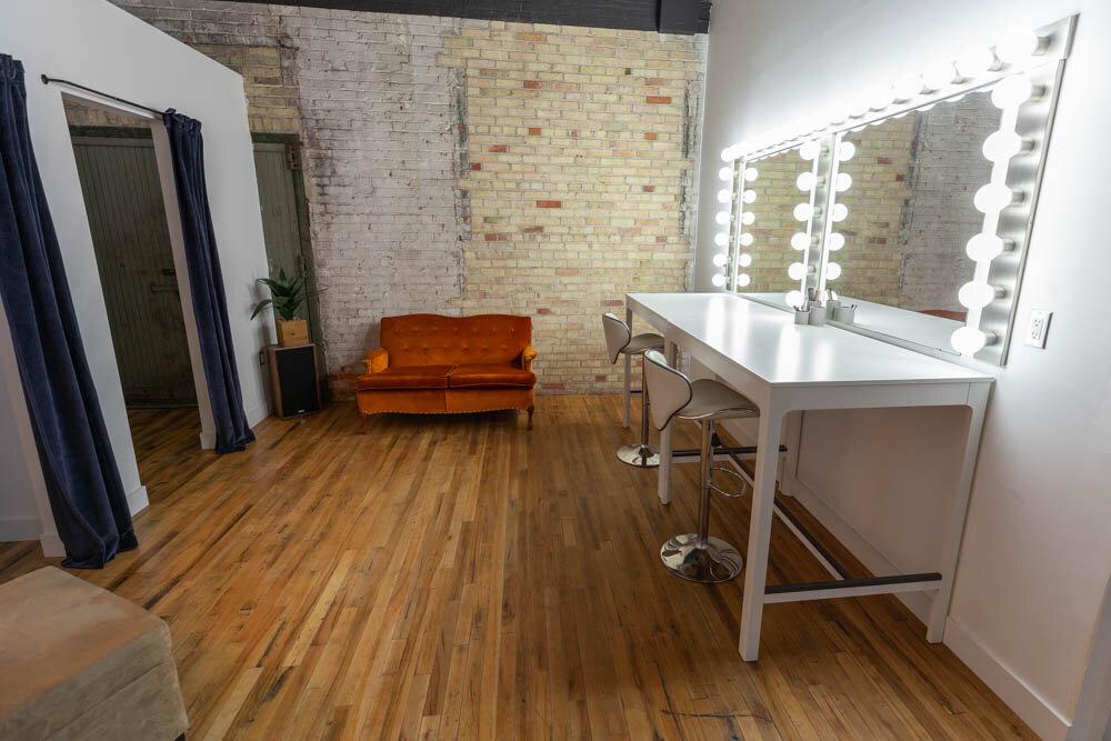 Studio A - Makeup & Wardrobe Area