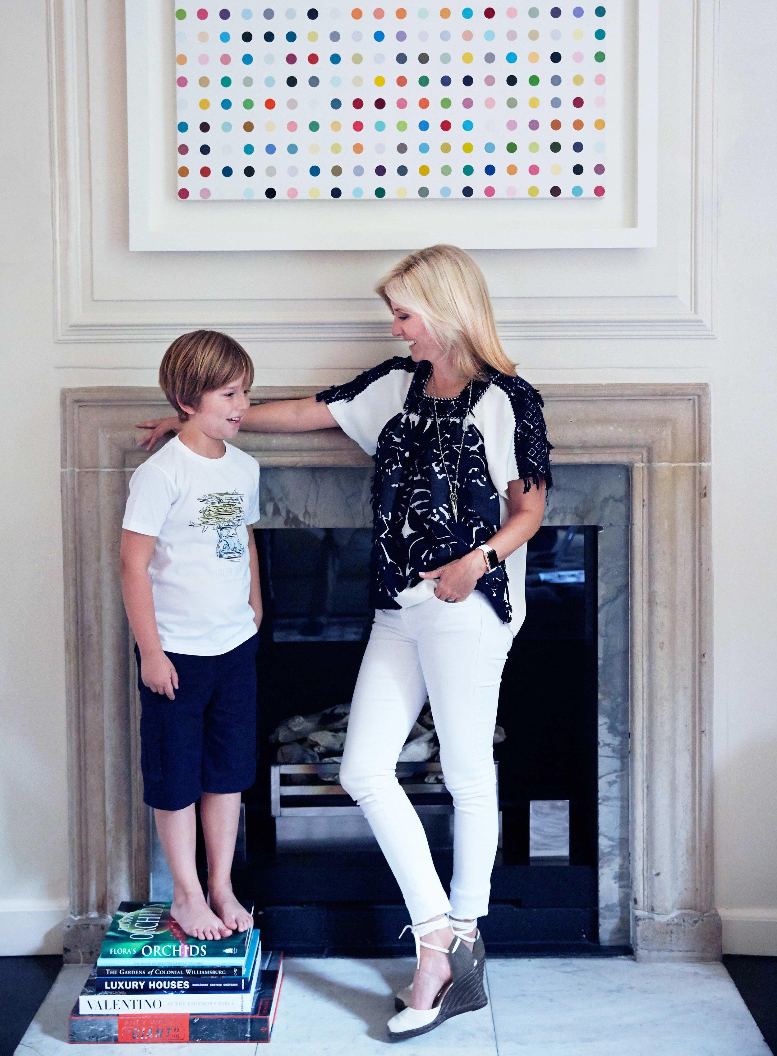 Princess Marie-Chantal with Prince Aristides at home.jpg