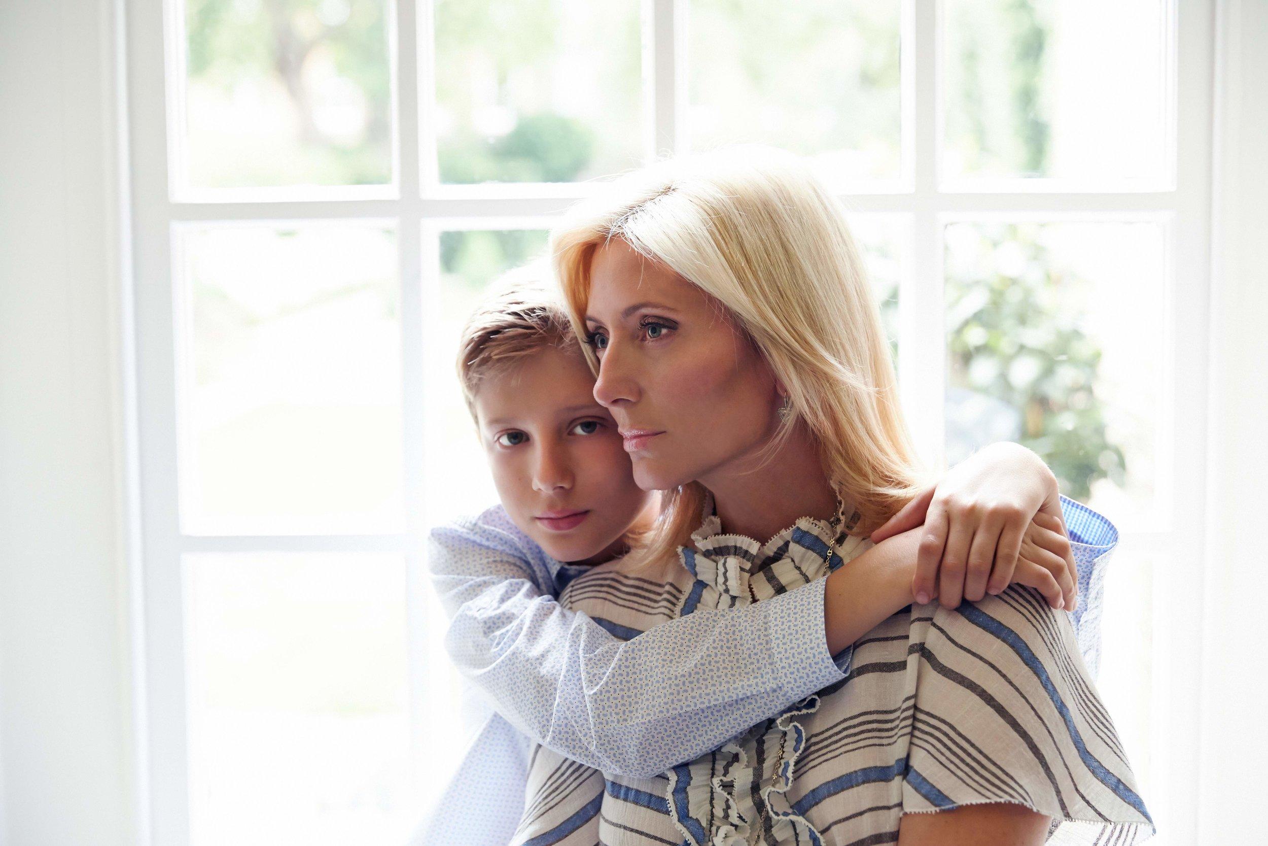 Princess Marie-Chantal with Prince Odysseas at home.jpg