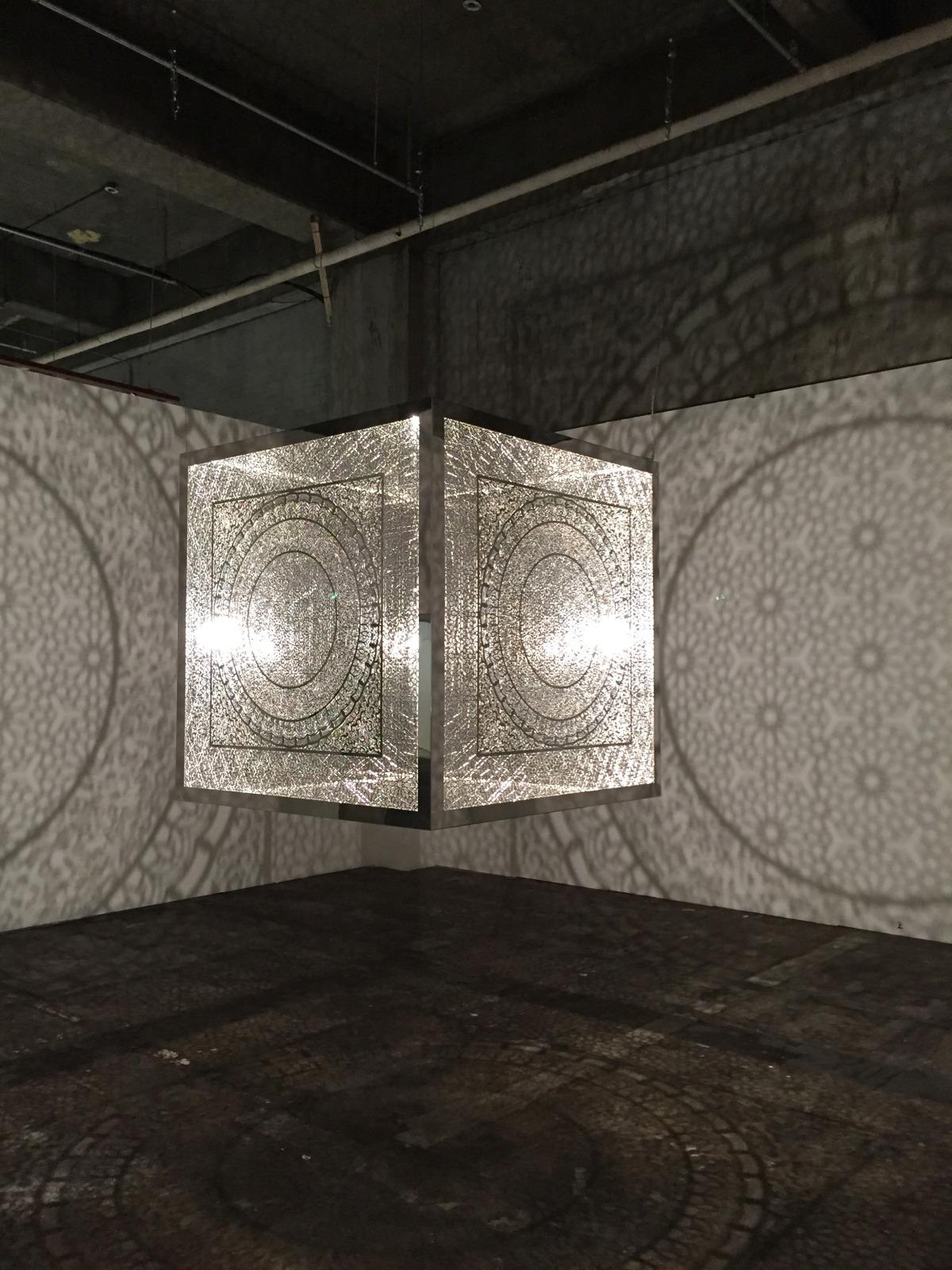 "Crossing Boundaries    Cheongju Craft Biennale: Cheongju, Korea 2015  Polished stainless steel 48"" x 48"" x 48"" 2014-15"