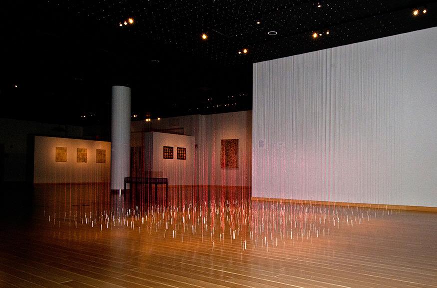 A Flood of Tears   Stewart Art Gallery: Williams Port, PA    Thread and Needles  12' x 12' 2010