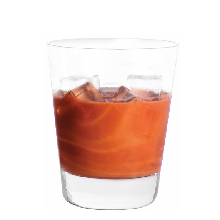 BOM FIRE   Shake 3 parts BOM BOM and 1 part fire whiskey with ice. Strain and pour in shot glass or short glass over ice.
