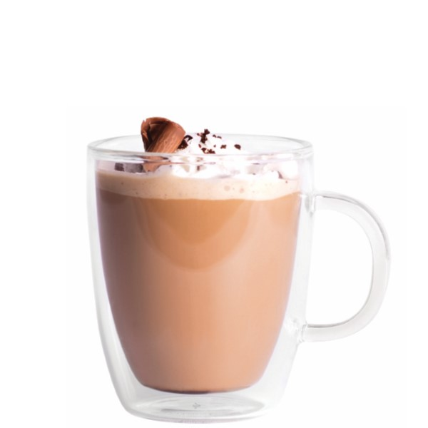 COCO MOCHA LATTE   Mix 2 parts Coco Mochanut with 2 parts brewed coffee or espresso. Add whipped cream and coffee beans for garnish.