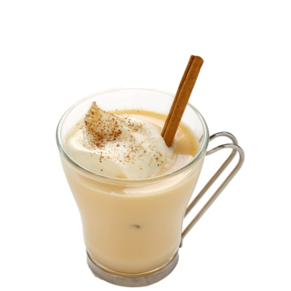 EGG NOG BOM   Beat 4 eggs together with 4 tbsp caster sugar, dissolving completely. Add the 1 cup Coco Mochanut, 2 cups milk and 1 tbsp. vanilla extract. Whisk vigorously. Split in four short, glass tumblers, finishing with a cinnamon stick and a sprinkle of cocoa powder.
