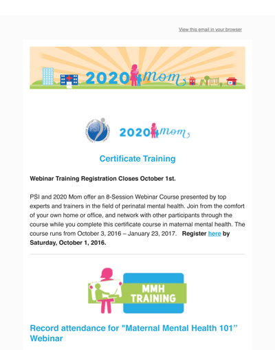 9.7.16 Upcoming Training Deadline-Save the Date and More