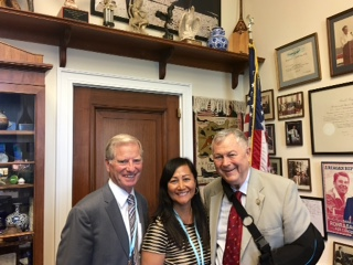 Ed and Millie with Congressman Dana Rohrabacher