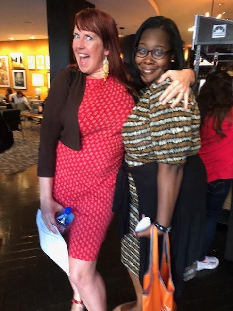 Storytelling workshop leaders, Melissa Bangs and LaShonta Edwards.
