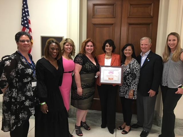 California team on a legislative visit.