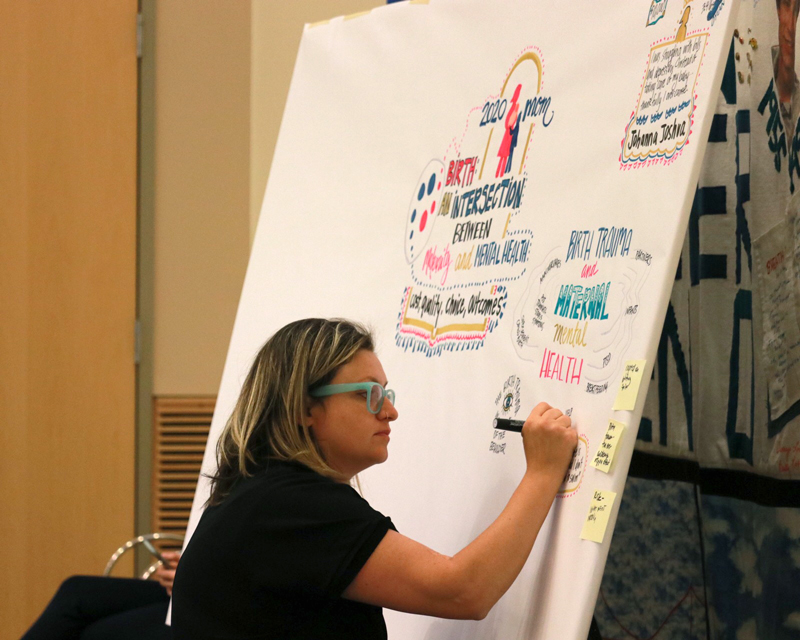 Graphic illustration captured key topics throughout the Forum