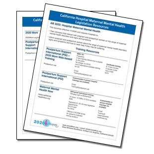 California Hospital Maternal Mental Health Legislation Resources