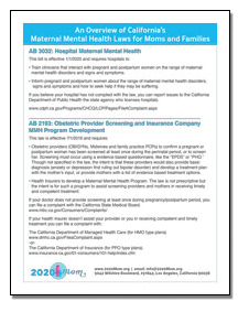 An Overview of California's Maternal Mental Health Laws for Moms and Families