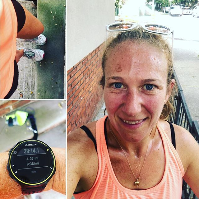 I had a long day & didn't want to run but I got myself out the door & was so happy that I did. Get outside & just go, don't think, just go. Did you move today? #aktivmom #halfmarathontraining #garminforerunner235 #fitmom