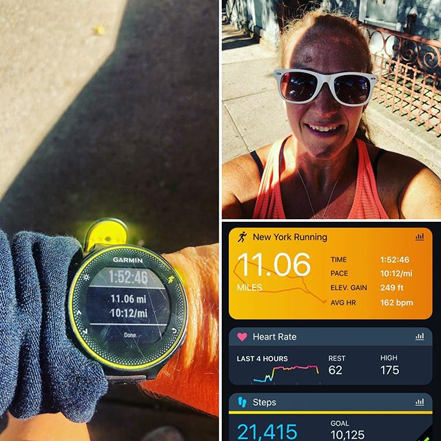Mind over matter was today's mantra...it's what got me through my longest run in a long time, I've still got it! Get out there today & push yourself just a little further than you think you can go. #aktivmom #halfmarathontraining #garminforerunner235 #brooksrunning #fitmom