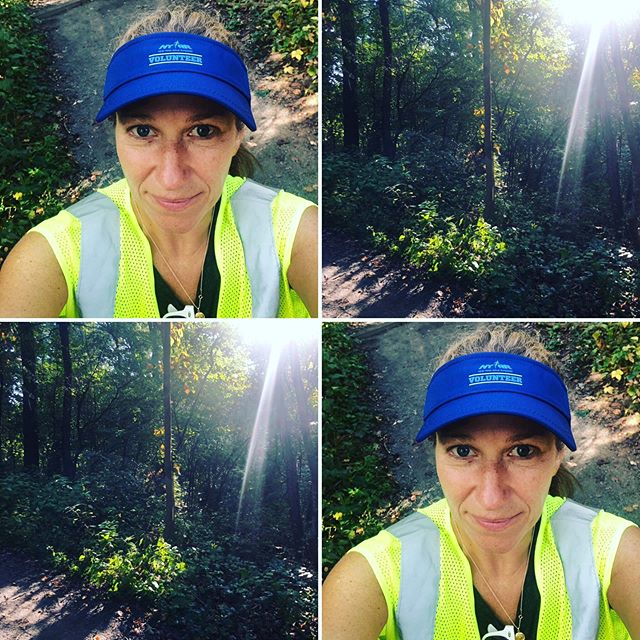 Earning my +1 for NYRR NYC marathon 2020....gorgeous morning in the park.