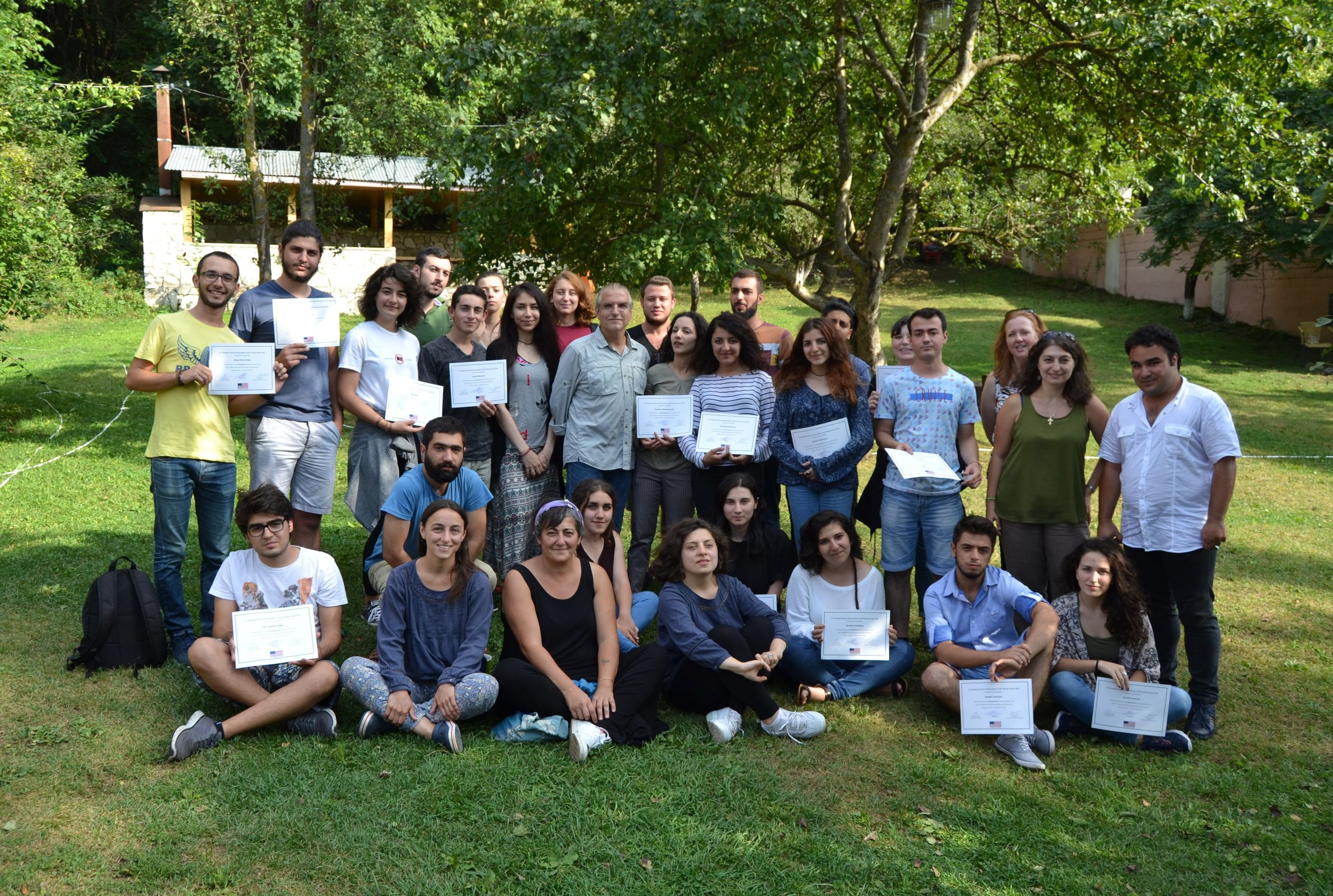 After awarding certificates for participating in the photojournalism camp,August 28, 2016 Dilijan, Armenia