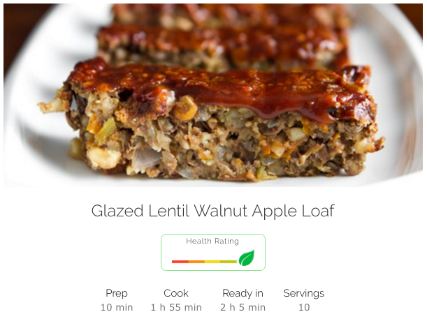 Nothing better than coming home to meatloaf. Except when it's made of lentils, walnuts, and apples. Thank you  Oh She Glows .
