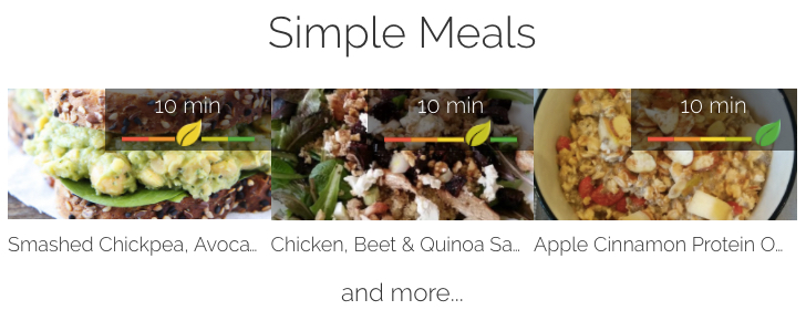 Simple meals - and delicious!