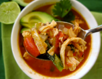 Try including this  Chicken Tortilla Soup  in your weekly                    meal plan.