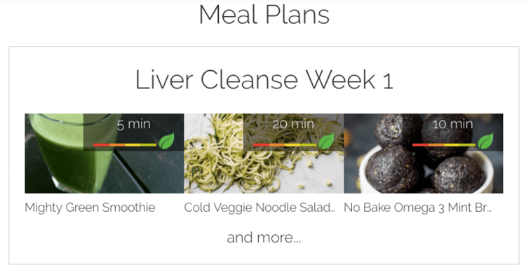 Meal Plans - Liver Cleanse Week 1