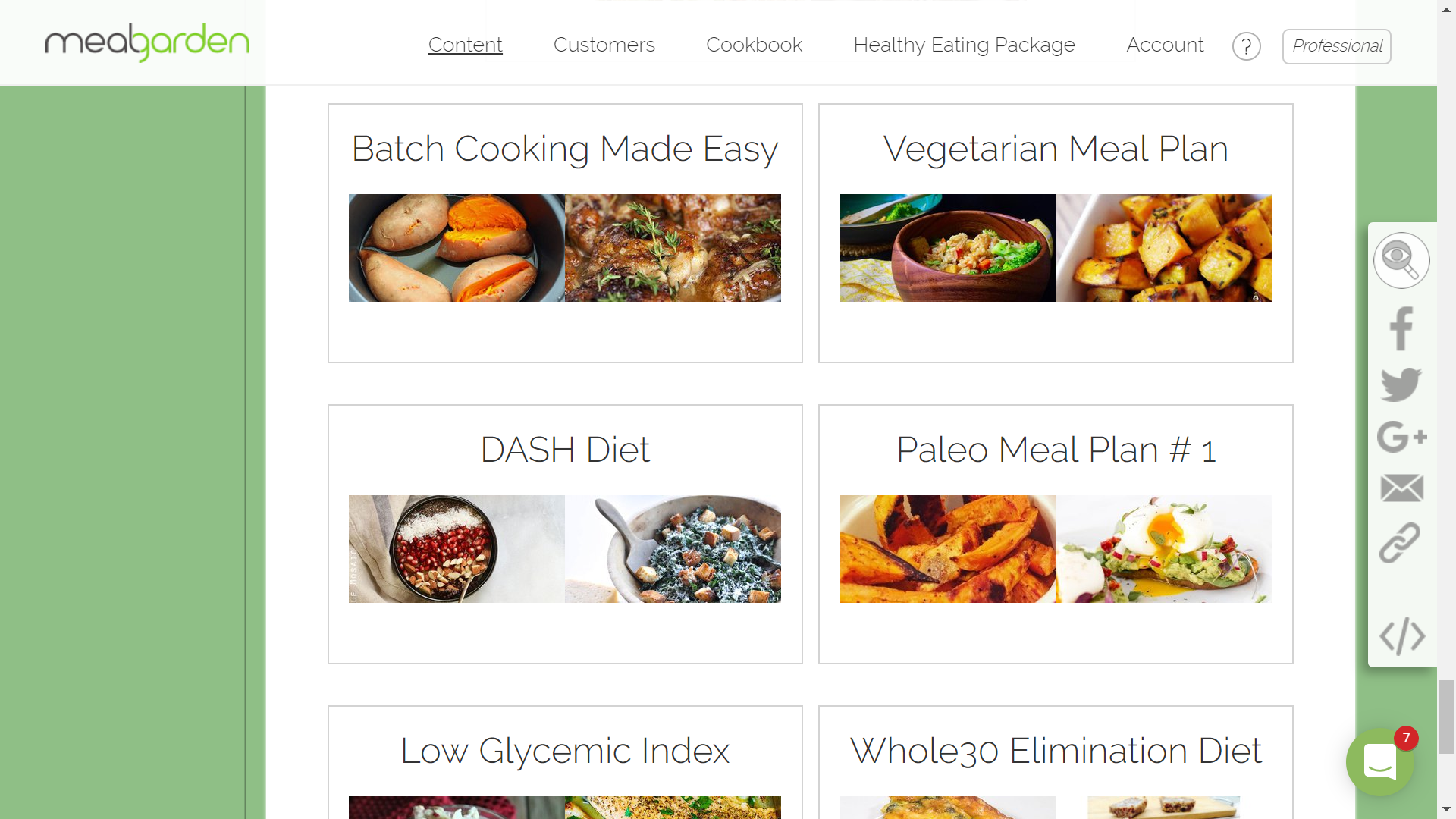 Meal plan template 1