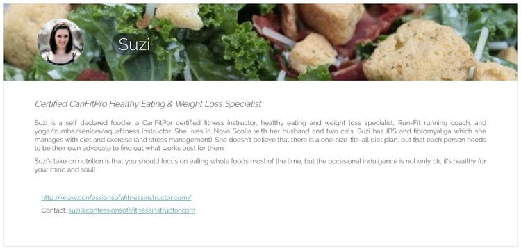 Meal planning - the front-line view of a certified fitness instructor