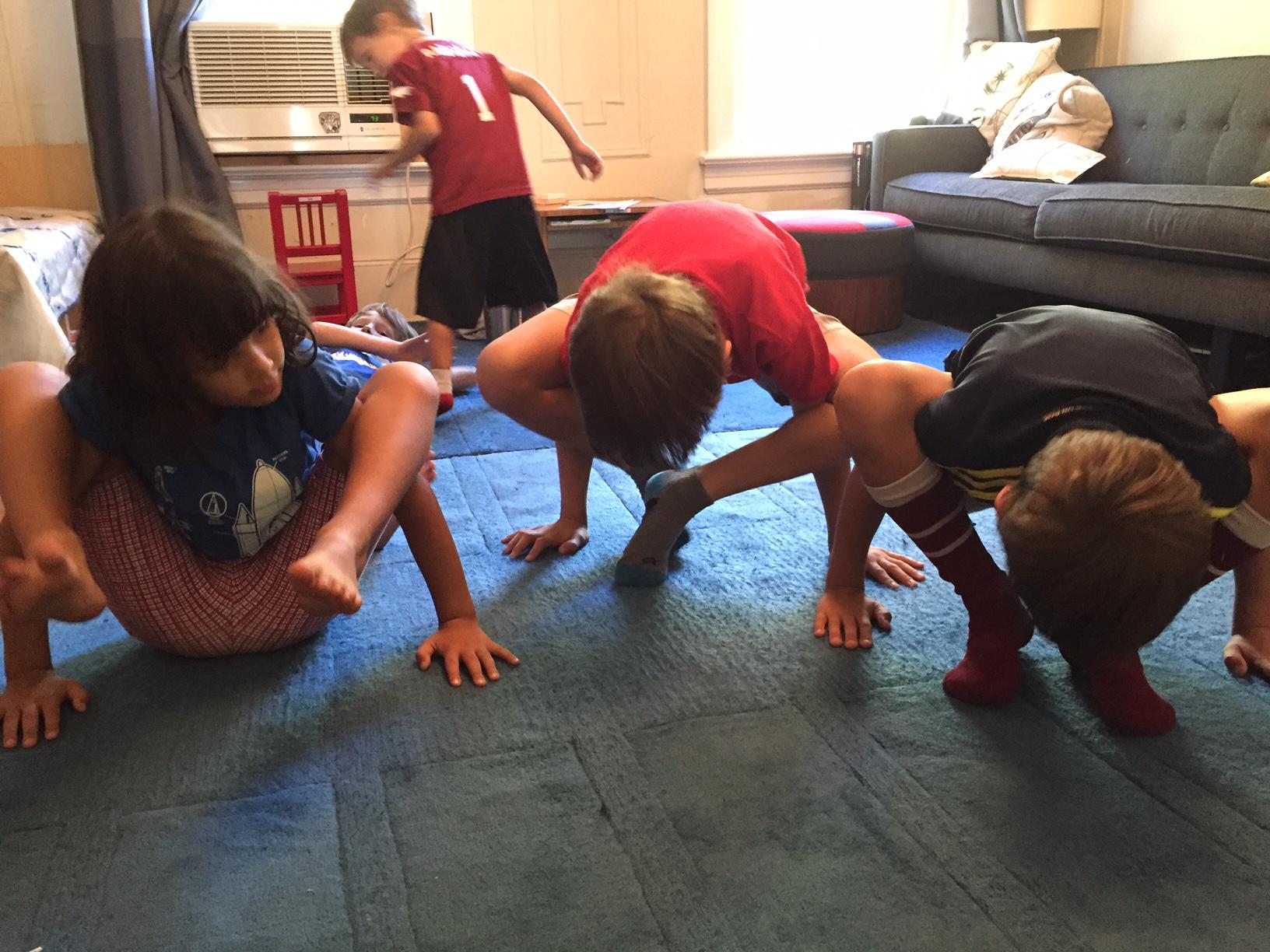 Yoga Spiders - arm balances!