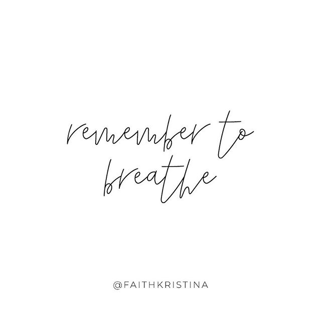 Wow. What a crazy weekend it's been! 4th of July, catching up with friends, bridal showers, mimosas, meetings, tests, 😳 does anyone else feel like they need a weekend after their weekend? 😂 So tired! x Chugging water and remembering to breathe tonight. 🙌🏼 I meditated for the first time in a week the other day (🙈) and I couldn't believe how foreign a deep breath felt. I felt the need to apologize to my body and here's why... when we aren't taking the long deep breaths we need, our brain doesn't get enough oxygen. When our brain doesn't get enough oxygen it signals to our body that something is wrong. Our body then starts the fight or flight process to figure out what's happening. There is POWER in a deep breath y'all. We actually can't function without it. Short shallow breaths can cause anxiety, increase stress and put a lot of pressure and strain on our hearts, brains, and all other body systems. When we are anxious our natural response is to take shorter, quicker breaths and this makes anxiety and stress 10 times worse. I can't tell you one time that taking a few minutes to deep breathe HASN'T lowered my stress. It's simple, always accessible, and vital.  Remember to breathe today!! 💛 x How was your long weekend?? Did you go anywhere? Stay home? Let me know! 🤗